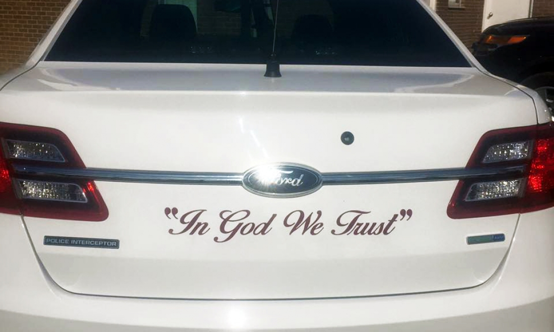 """In God We Trust"" Decals Have Arrived"